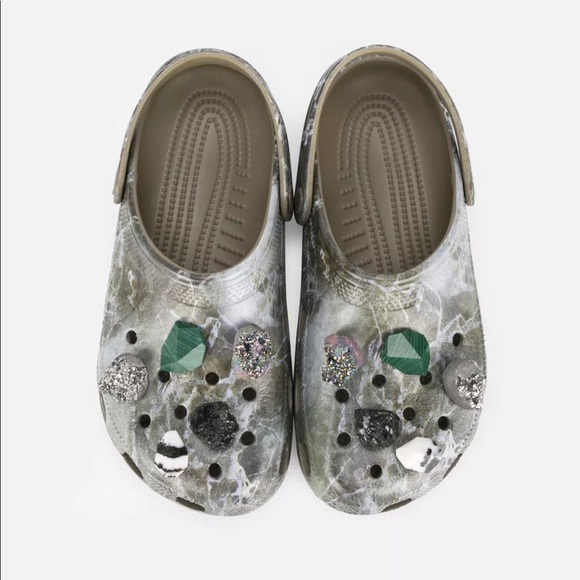 b315935313019 New Christopher Kane Crocs green marble shoes 38